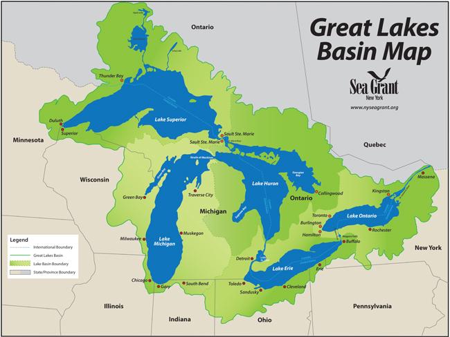 NY Sea Grant | NYSG: Great Lakes Coastal Youth Education (News ... Impervious Surfaces Map Buffalo New York on